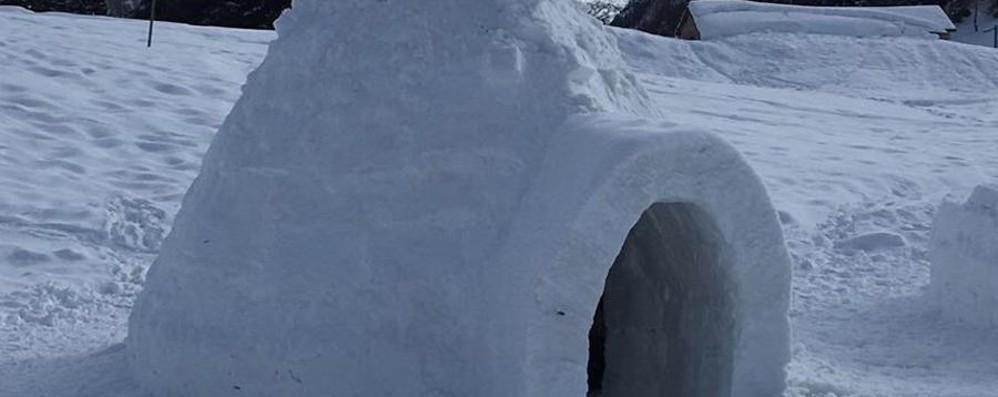 A San Simone l'«hotel di ghiaccio» Giovedì apre l'Igloo Village