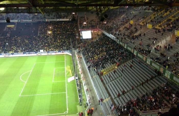 Il settore ospiti di Dortmund