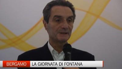 Corsa alla Regione,  Fontana a Bergamo «Proseguire nel buon governo di Maroni»