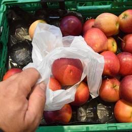 Contro i sacchetti a pagamento in aumento la frutta confezionata