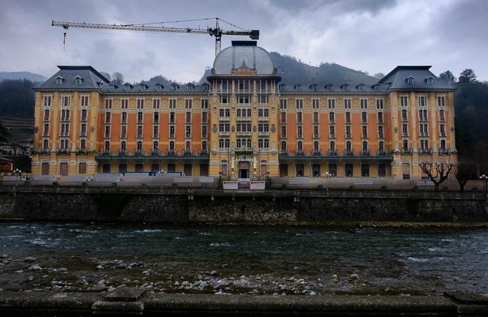 Lavori al Grand Hotel di San Pellegrino Terme