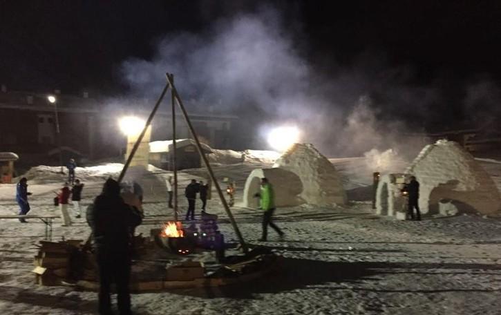 Anche la fiaccola olimpica per gli igloo a Valleve