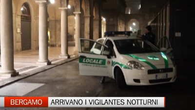 Sicurezza a Bergamo: già in azione la vigilanza notturna