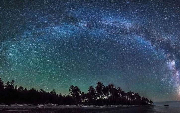 Il cielo d'inverno a Brembate di Sopra