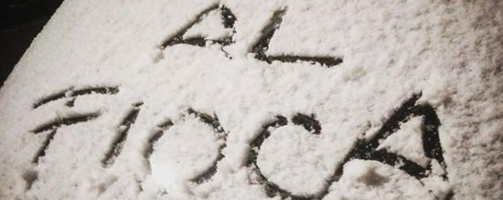 Torna le neve sulle montagne Codice giallo in Bergamasca