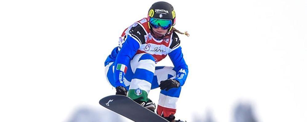Snowboard, quarta Michela Moioli «Soddisfatta, ho rischiato una caduta»