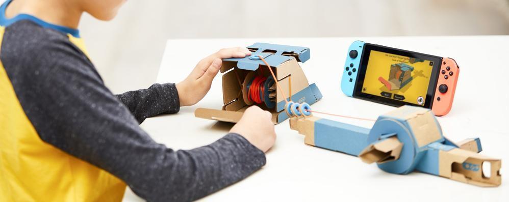 Nintendo Labo:  giocattoli di cartone con Switch