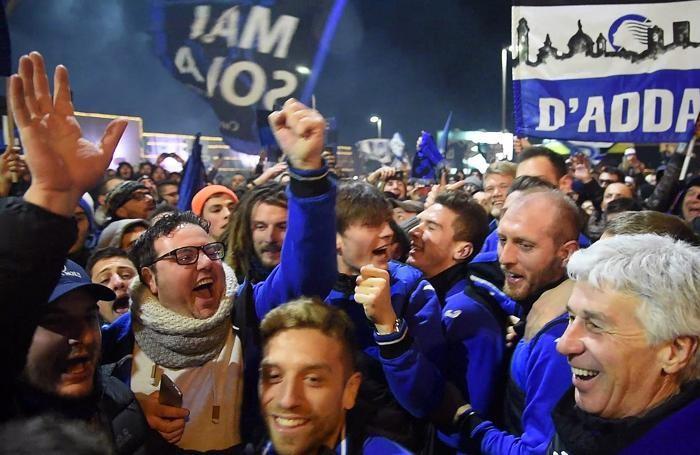 ATALANTA FESTEGGIAMENTI COPPA ITALIA ORIO AL SERIO