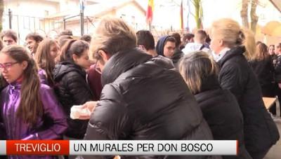 Murales e nutella per festeggiare don Bosco, l'amico dei ragazzi