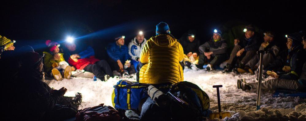 Notti magiche al «campo base»   Non è l'Himalaya, ma pare di sì