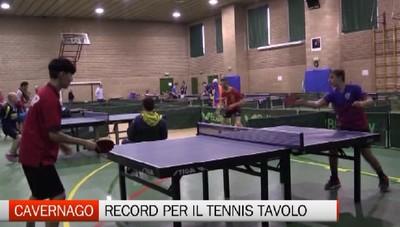 Cavernago - Record di partecipanti per il torneo di tennis tavolo Csi