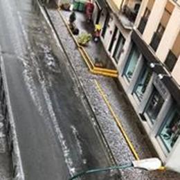 Chiuduno senza acqua dopo il temporale E a San Giovanni Bianco grandina - Foto