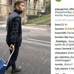 La vacanze del Papu? A fare la spesa Resta a Bergamo e spopola on line
