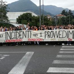 In ricordo di Luigi, studenti in marcia  Da Gazzaniga a Bergamo per la sicurezza