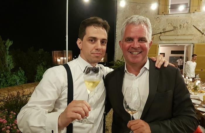 Da sin. Oscar Mazzoleni e Olivier Krug