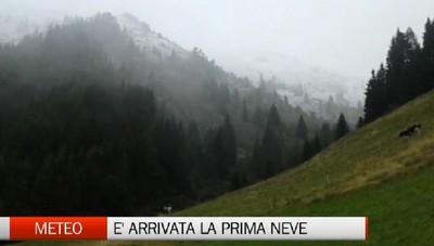 Meteo - Assaggio d'inverno, primi fiocchi in montagna