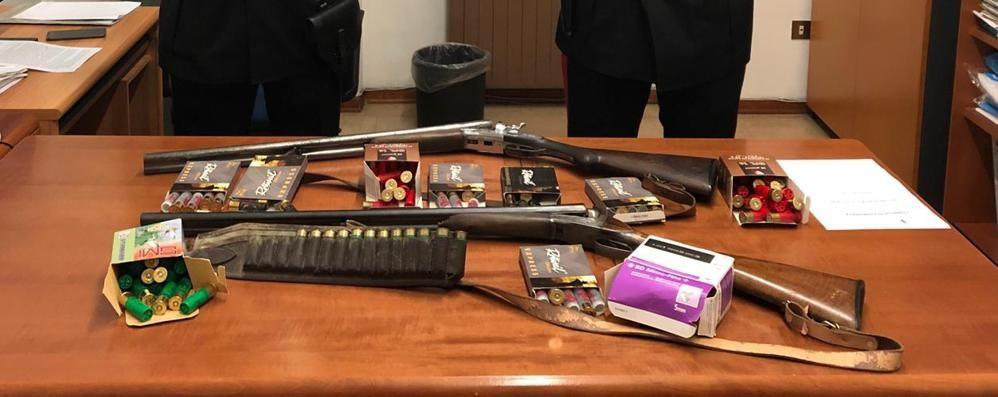 Armi clandestine a casa della madre Arrestato 44enne a Oltressenda Alta