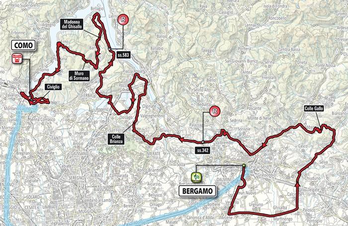 Cartina Dettagliata Lombardia.Scatta Da Bergamo Il Giro Di Lombardia Tutte Le Info Orari E Strade Chiuse Sabato Cronaca Bergamo