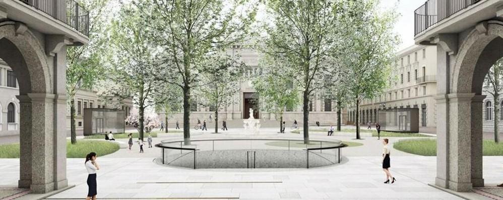 Ecco come sarà la nuova piazza Dante Uscite vetrate per l'ex Diurno