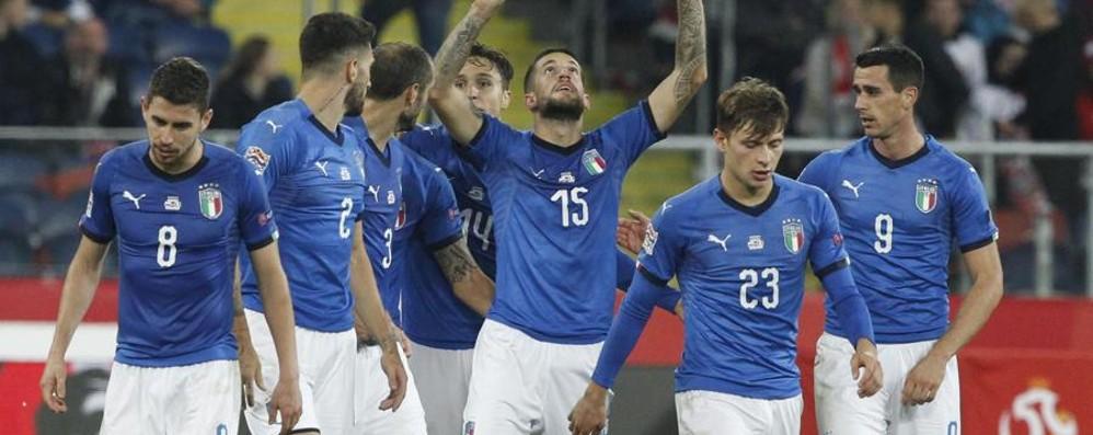 La gioia di Biraghi dopo il gol «Lo dedichiamo a Davide Astori»