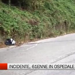 Parre, incidente stradale tra una moto e un furgoncino