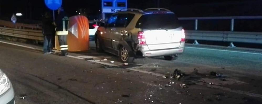 Due incidenti a Nembro a poca distanza Traffico bloccato in Val Seriana
