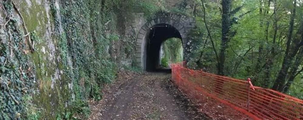 Pista ciclabile da Bergamo a Zogno Continuano i lavori sull'ex ferrovia