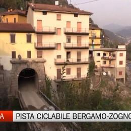 Sedrina, i lavori per la pista ciclabile della Val Brembana