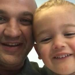 Bimbo in salvo dopo caduta in casa Gandino, il grazie del papà