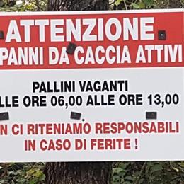L'avviso dei cacciatori in Val Calepio «Pallini vaganti, noi non responsabili»