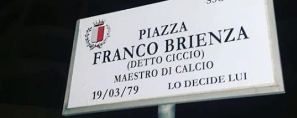 I tifosi dedicano una piazza a Brienza In nerazzurro memorabile il gol al Milan