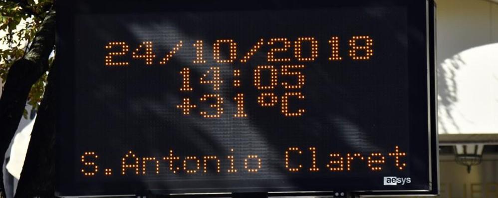 Bergamo, termometro a 31°C Vento, al Curò raffiche da 130km/h