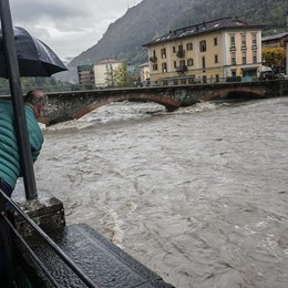 Allerta meteo anche in Val Brembana Infiltrazioni d'acqua in galleria