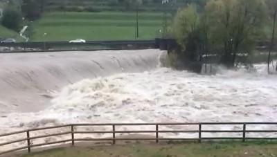 Il fiume Serio in piena