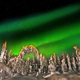 L'incanto della Lapponia svedese Aurora boreale, renne e slitte