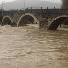 Maltempo, 400mm di pioggia in 2 giorni Fiumi Brembo e Serio, portate da record