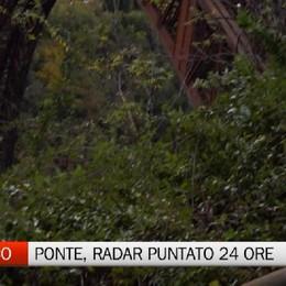 Ponte Calusco, un radar puntato per 24 ore. Così sapremo se è a rischio crollo