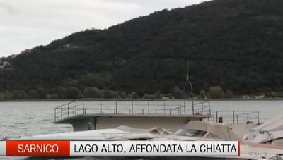 Sarnico: danni per il maltempo e livello del lago in continua crescita