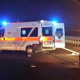 Scontro frontale in superstrada Quattro persone ferite ad Albino