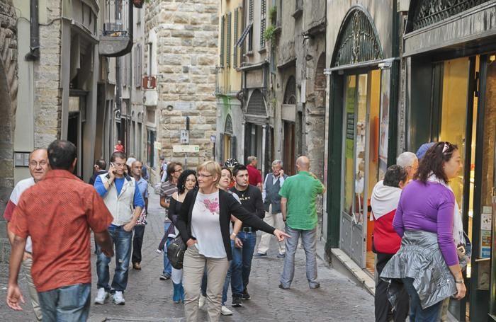 città alta residenti e turisti