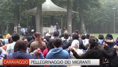 Immigrati da tutta la Lombardia in pellegrinaggio al Santuario di Caravaggio
