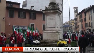 Bergamo, la commemorazione dei Lupi di Toscana