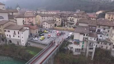 La casa distrutta a San Giovanni Bianco