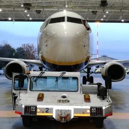 Manutenzione aerei Ryanair -Foto Orio, inaugurato secondo hangar
