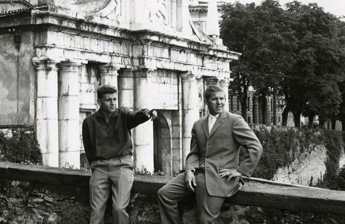 Nielsen (a sinistra) e Kurt Christensen a Bergamo