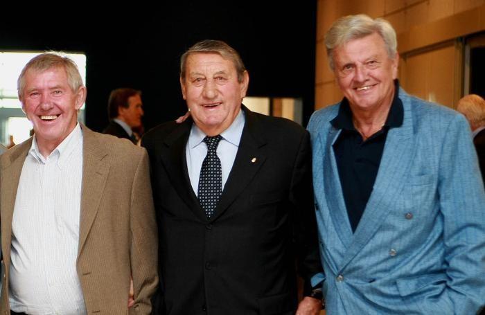 da sin Christensen, Bepi Casari, Nielsen alla festa del centenario dell'Atalanta - Foto Magni