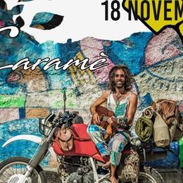 Caramè, cantautore girovago Racconta il suo viaggio in moto