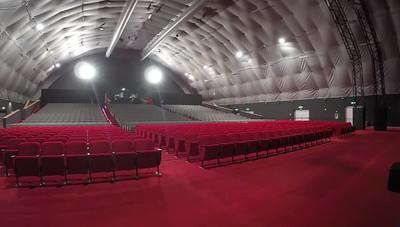 Il pubblico riempie il Creberg Teatro Time-lapse è spettacolare