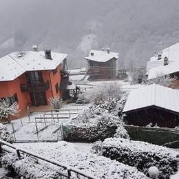 In alta Valle Seriana è arrivata la neve Valbondione imbiancata- Foto e video