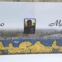«Ciao Marco», il saluto degli amici tifosi A Trescore Balneario l'addio al 42enne
